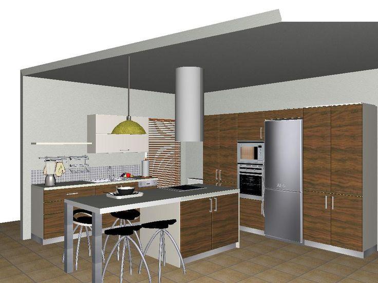 3d modern kitchen, kitchen island, μοντερνα κουζινα, νησιδα
