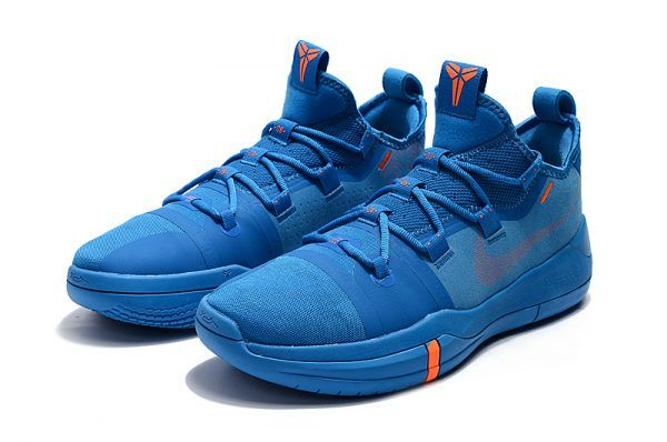 252ba963f628 Nike Kobe AD Royal Blue Orange Men s Basketball Shoes- Change the shoe  laces to red