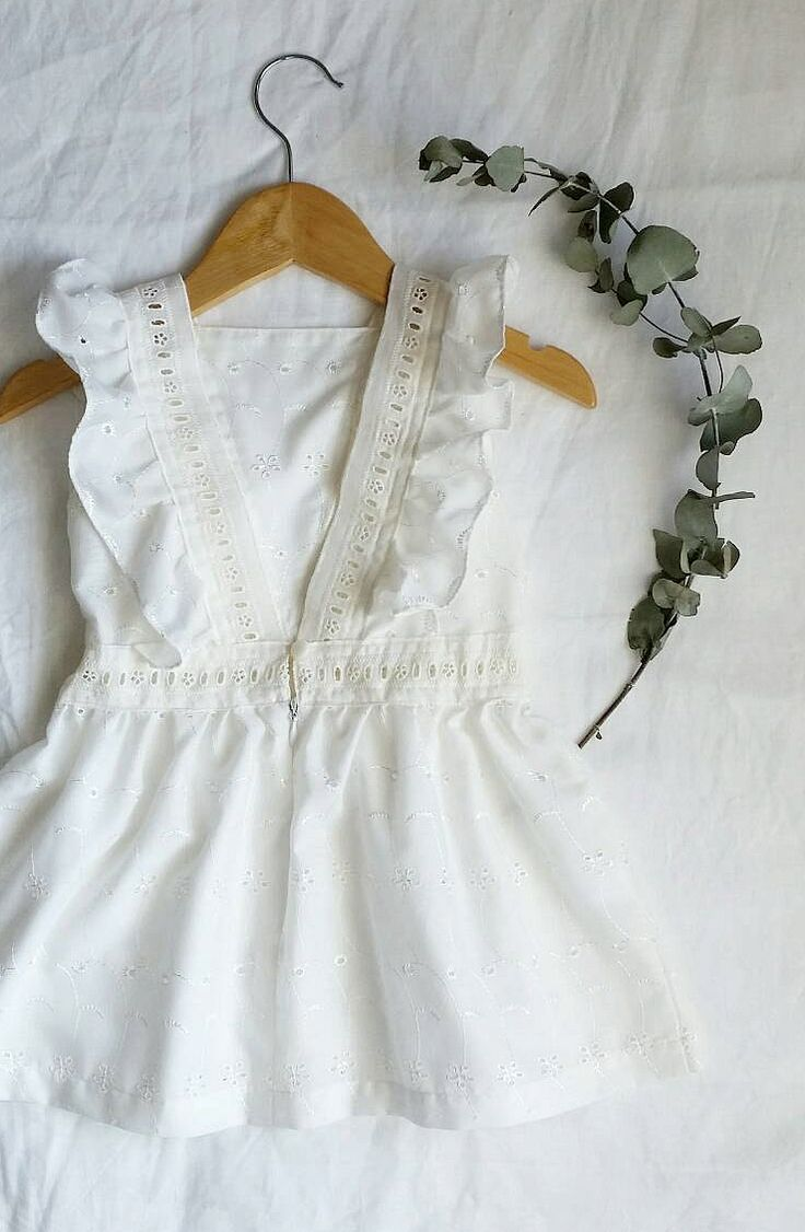 Girls Handmade Embroidered Flutter Dress | Lilac Handmade on Etsy