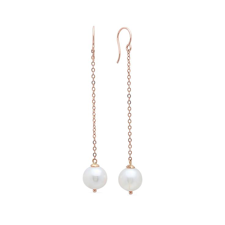 ICONERY | Victoria Six Gold and Pearl Drop Earrings