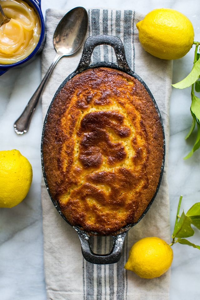 Lemon Curd Pudding | DonalSkehan.com, Brilliant and refreshing quick dessert.