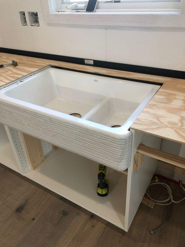 Best Diy White Concrete Countertops – Working Around Sink 400 x 300
