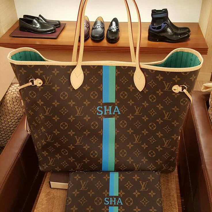 my personalized louis vuitton mon monogram neverfull gm  lovelyyyyy