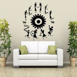 If you are really missing the simple life of rural India than these exotic wall art designs will definitely boost up your mood. Come and share the joy with this beautiful handmade tribal dance wall decal. Warli tribal dance themed wall art is here to embrace the beauty of life. SMALL :-- 20 X 24 -- IN INCHES MEDIUM :-- 24 X 28 -- IN INCHES LARGE :-- 48 X 57 -- IN INCHES