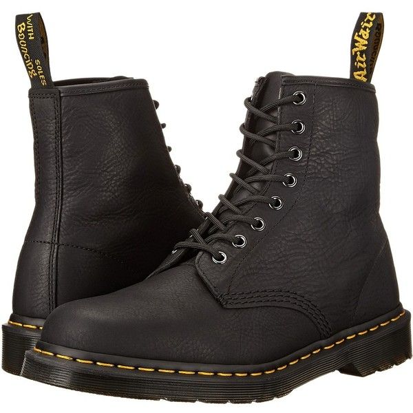 Dr. Martens 1460 8-Eye Boot Soft Leather Men's Lace-up Boots ($135) ❤ liked on Polyvore featuring men's fashion, men's shoes and men's boots