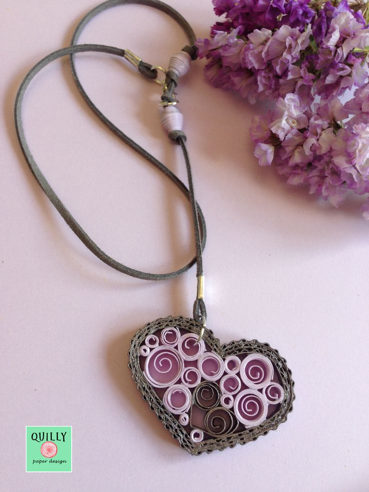 Necklace Heart_03 a paper jewel by QuillyPaperDesign