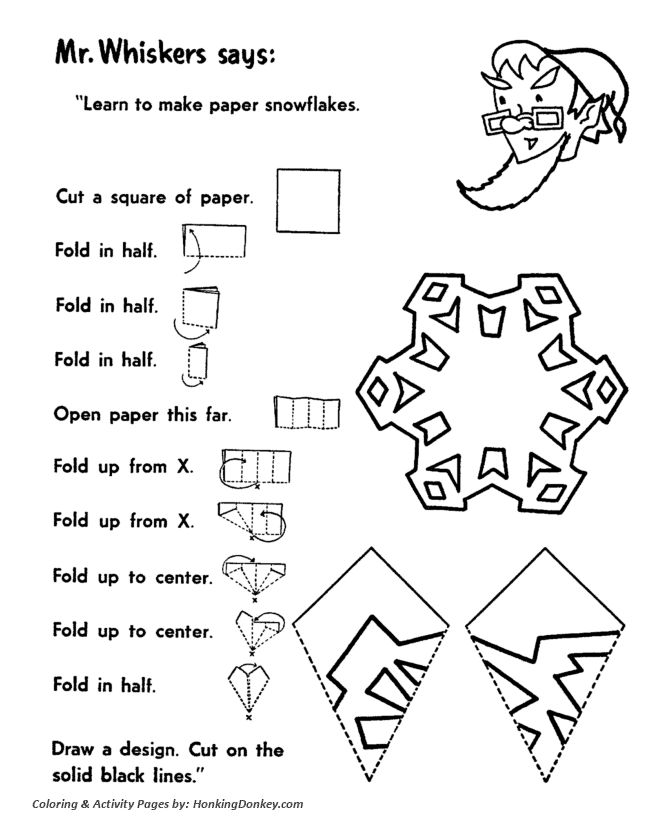 Cut-out Snowflakes Activity Sheet