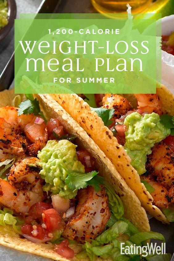 Plano de refeições para perda de peso de 1.200 calorias no verão   – Diet