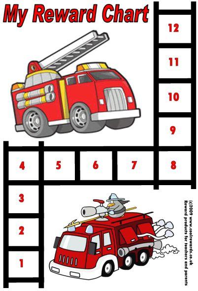 Reward Chart = firetrucks