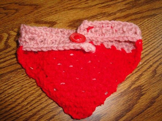 Hand Crocheted Doggie Bandanna's by littlelexibarkery on Etsy
