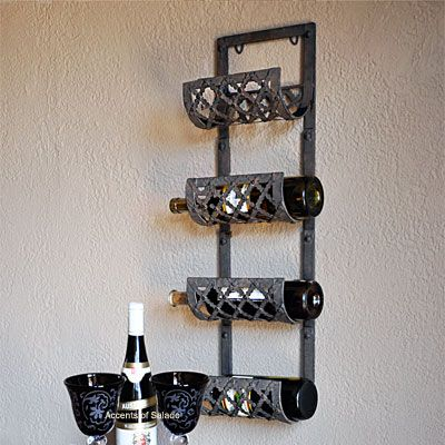 Best 25 Hanging Wine Rack Ideas On Pinterest Wall