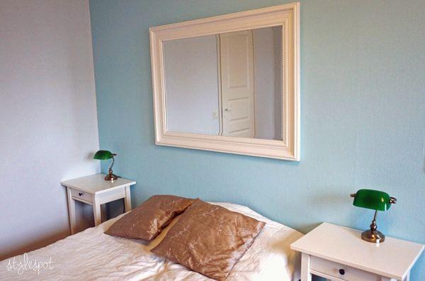 Makuuhuoneen turkoosi seinä | Stylespot