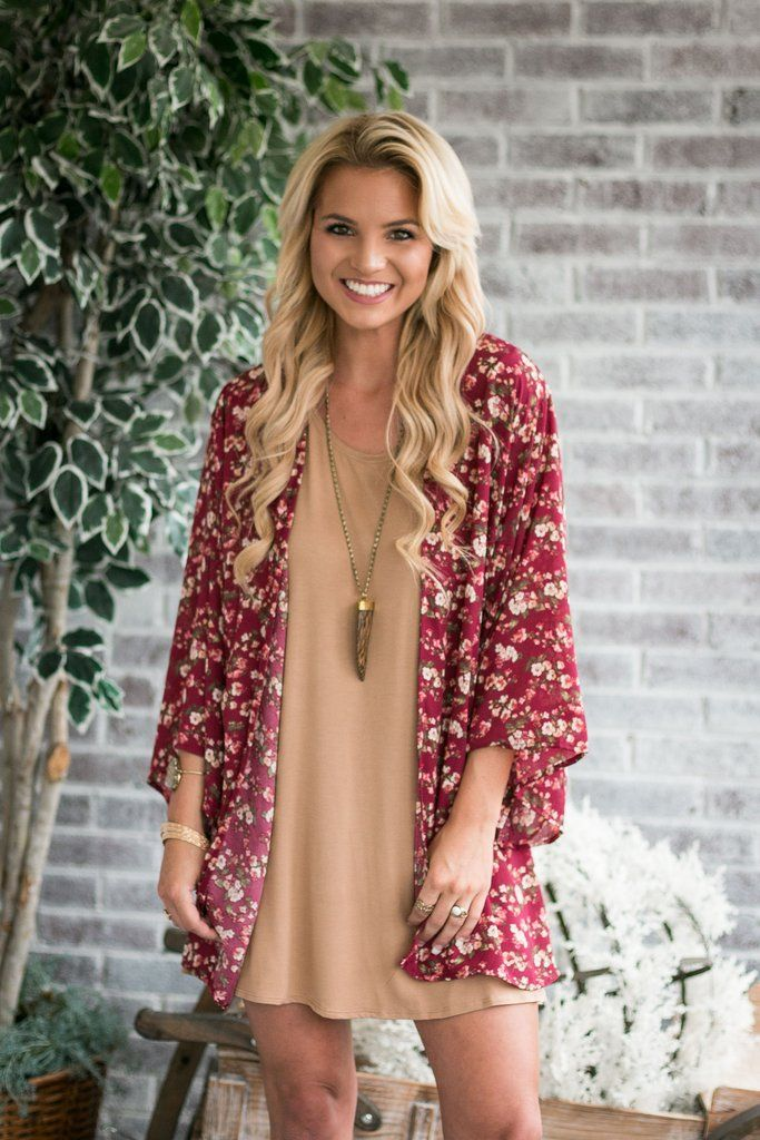 Fall in LOVE with the Fall Air Kimono. Premium heavier-weight chiffon in a gorgeous floral print. 3/4 sleeves with a flowy fit. Looks great over so many pieces! Model is wearing a size small. Limited