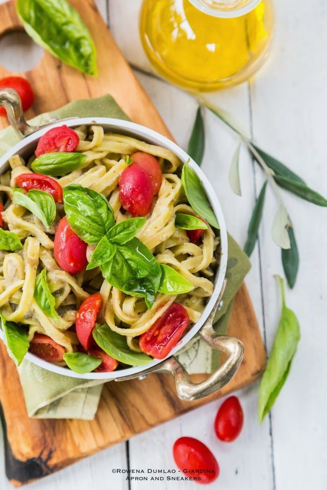Apron and Sneakers - Cooking & Traveling in Italy and Beyond: Tagliatelle with Eggplant Cream, Tomatoes and Basil