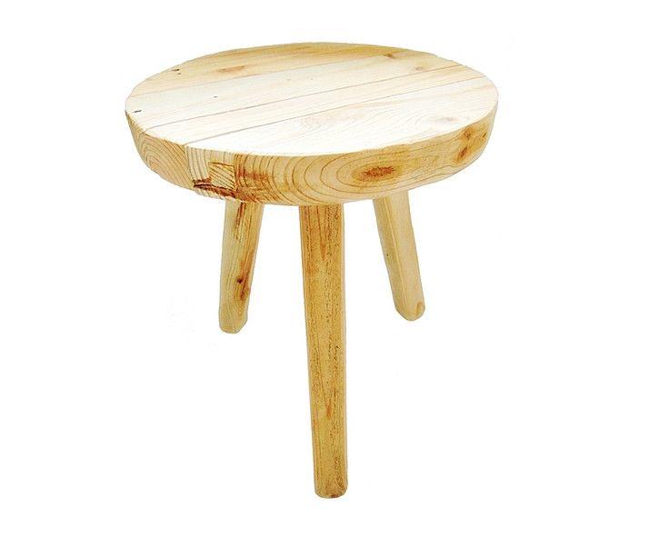stolik kawowy drewniany - SkandiDekor - Stoliki, wooden stool, tree stump