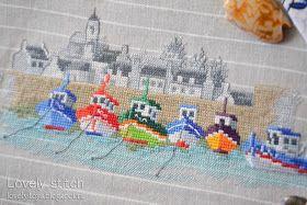 "Lovely stitch: Сумка для покупок ""Port de Concarneau""."