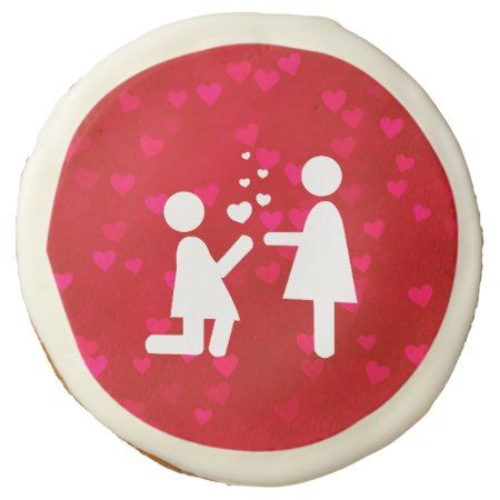 Valentine's Day Love Lesbian LGBT Pride Sugar Cookie - tap, personalize, buy right now!
