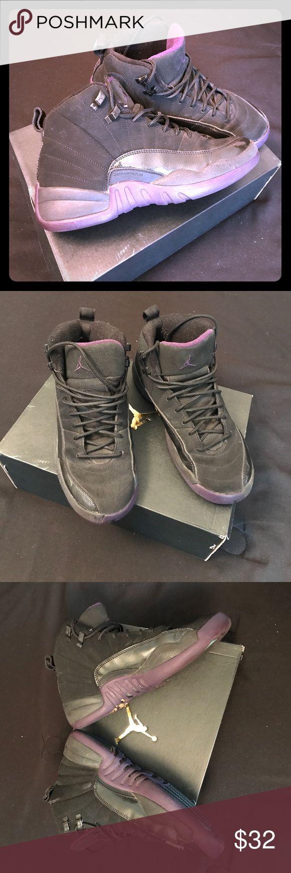 JORDANS Black History Month JORDANS. Black suede with Purple. Good condition. Dusty but lots of wear left Air Jordan Shoes Sneakers