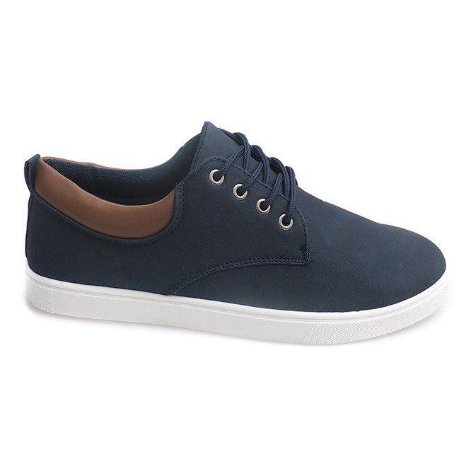 Trampki Meskie Casual 655 Granatowy Granatowe Sneakers Men Men Casual Sneakers