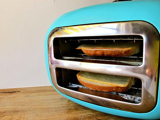 Turn your toaster on it's side to make cheese toast......change your life...