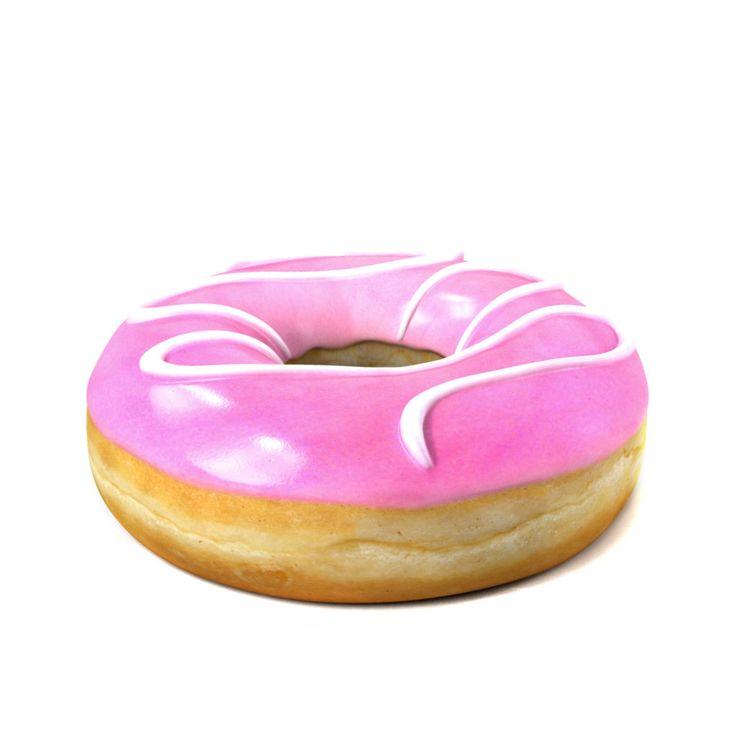3D Photorealistic Donut Cartoon - 3D Model