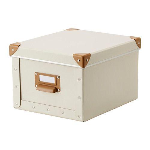 FJÄLLA Låda med lock IKEA Perfekt till förvaring av laddare, fjärrkontroller, usb och skrivbordstillbehör.