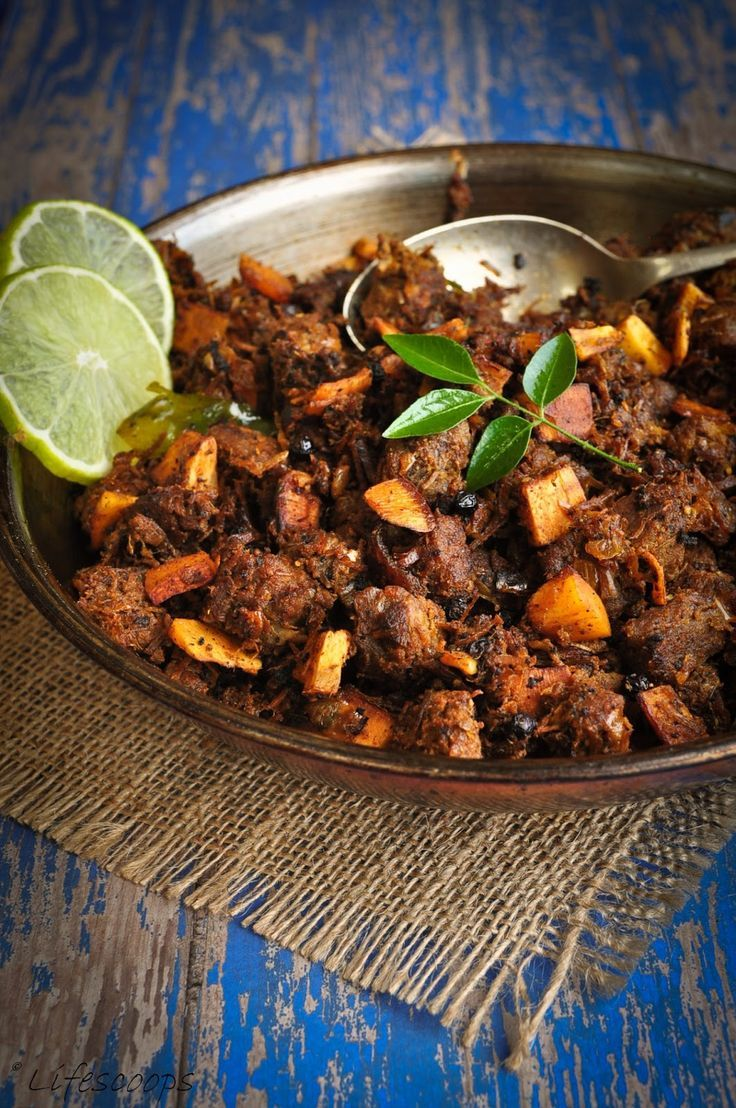 Life Scoops: Erachi Ullarthiyadu / Traditional Kerala Style Spiced Beef Roast with Coconut