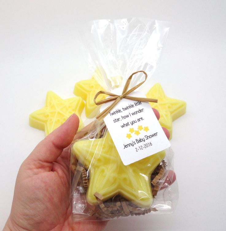 This listing is for 12 Yellow Star Soap Baby Boy Shower Soap Party Favors with Custom Tags. These party favors are perfect for a Twinkle Twinkle Little Star theme. A great little thank you for your ba