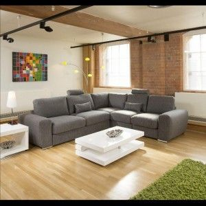 Massive Ultra Modern High Quality Sofa / Settee Corner Group Grey 5L