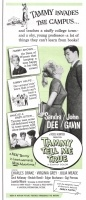 1961 Tammy Tell Me True - Universal International. Sandra Dee, John Gavin, Charles Drake, Virginia Grey, Julia Meade, Cecil Kellaway, Beulah Bondi, Edgar Buchanan, Gigi Perreau.