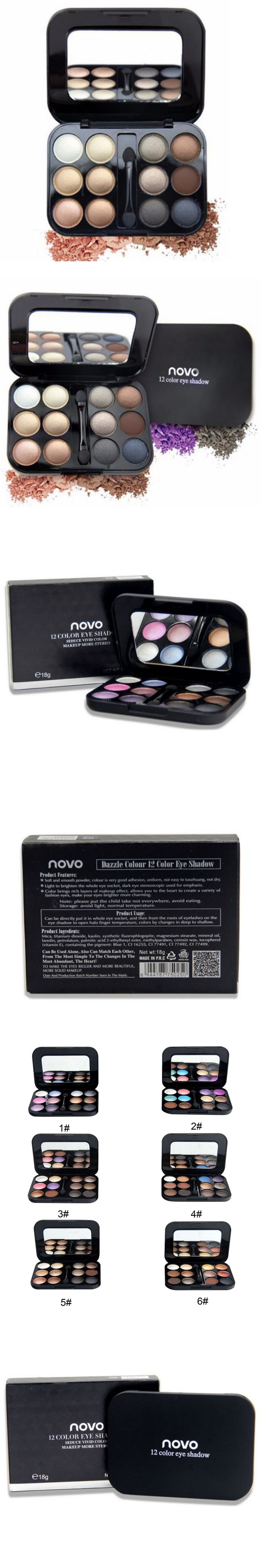 Women' Professional Eye Shadows Palette Makeup Smoky Shimmer Eyeshadow Palette Set Pigment eyeshadow 12 Color X2