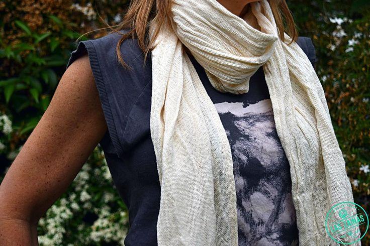 #Pashminas tejidas en #hilo o en rústico #Verano Precios rebajafos en nuestra tienda online #moda #unisex