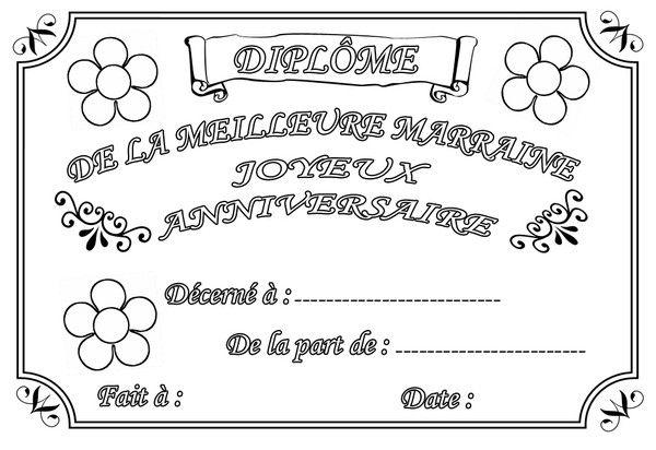 Coloriage Joyeux Anniversaire Marraine Recettes Bullet Journal