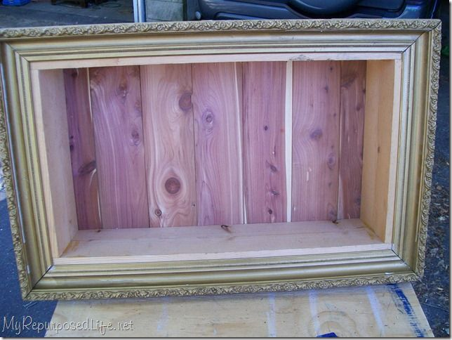 Shadow Box from a Picture Frame - Scout Leader challenge - build a shadow box. The boys that built one received antique barbed wire to display in it.  A simple tutorial on how to build from an old picture frame.