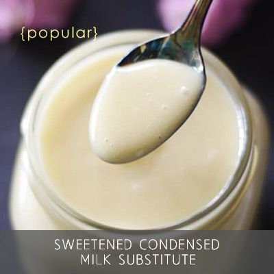 Sweetened Condensed Milk Substitute -- Instant, Raw, Dairy-Free, & Refined Sugar-Free, and looks, tastes, and acts like the real deal in baking!