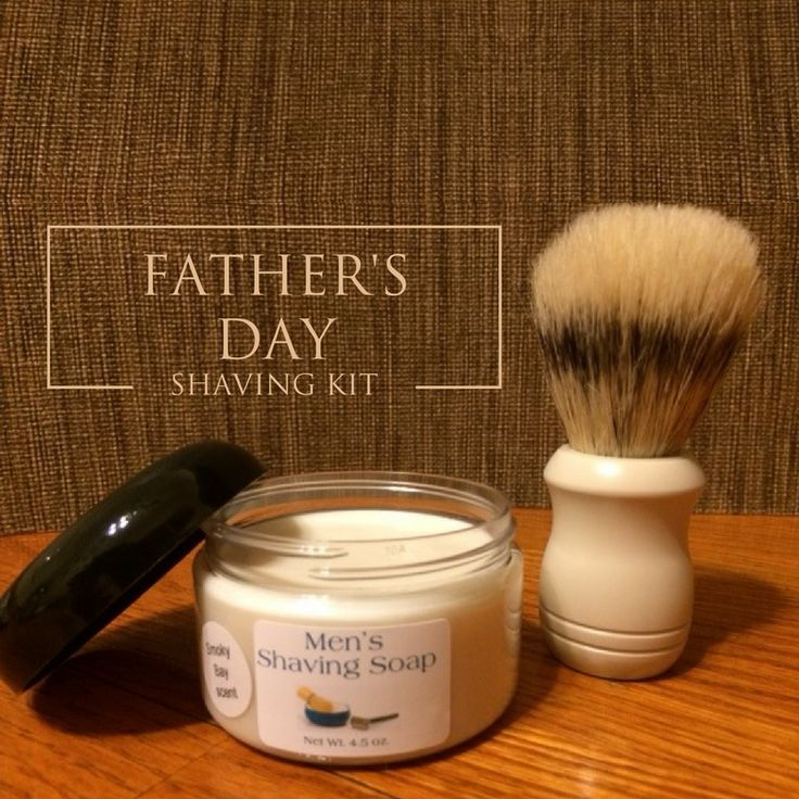Is your dad a #clean shaven guy?  Our Men's Shaving Soap with Badger Hair Brush is great in an #oldfashioned way! Find it on our #FathersDay Gift Guide!  #tailoredtouches