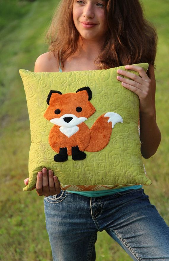 "The Innocent Red Fox pillow pattern - PDF instant download for a 16"" pillow using plush Cuddle fabrics from Shannon Fabrics"