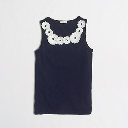 J.Crew Factory - factory girls' flower necklace tank
