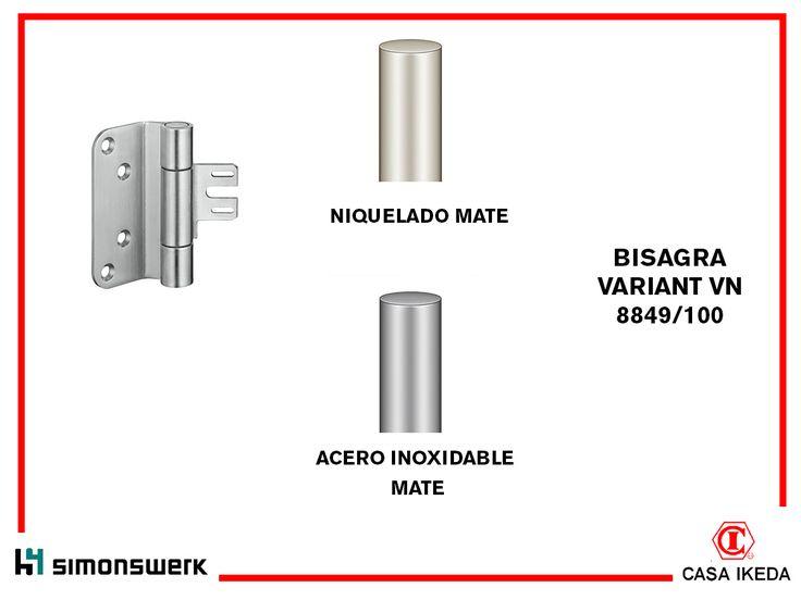 bisagra para proyectos simonswerk variant vn para puertas no solapadas con marcos de