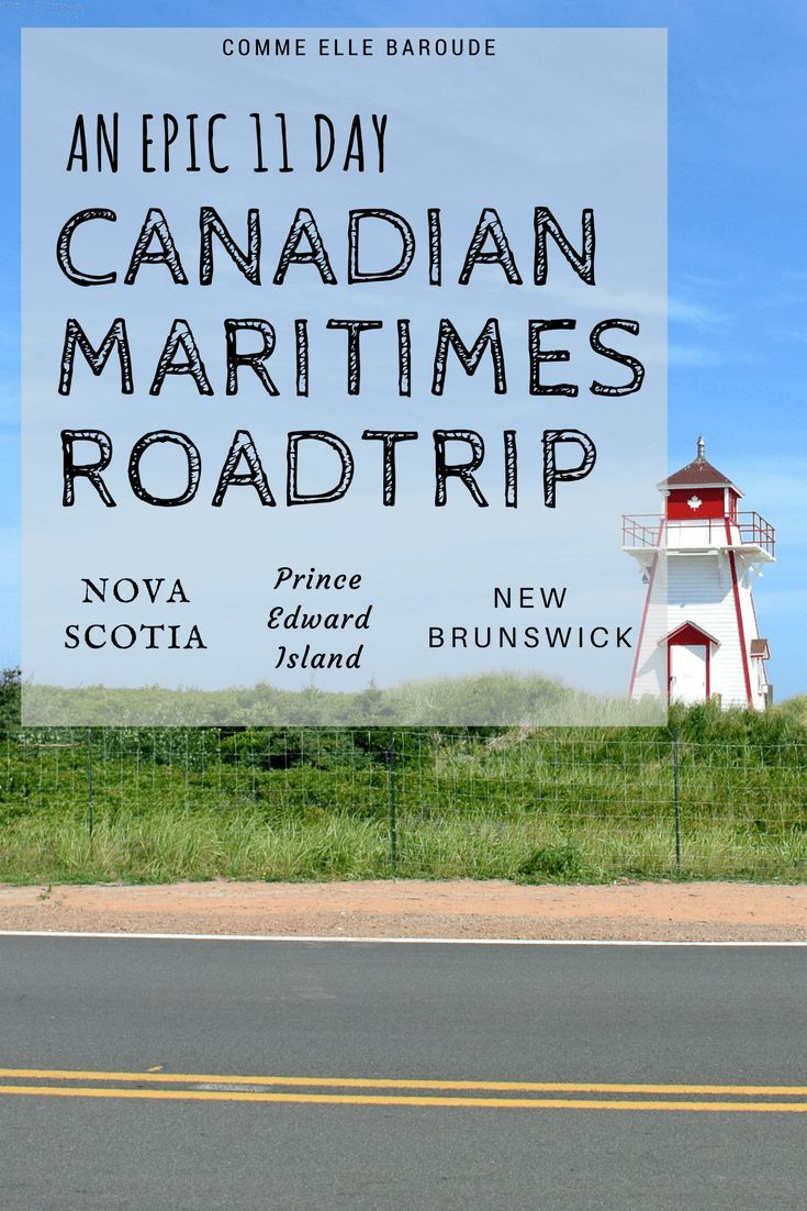 An 11 days road trip in the Canadian Maritimes: Nova Scotia, Prince Edward Island, New Brunswick; with a focus on national parks: Cape Breton, Prince Edward Island, Fundy, Kejimkujik, but also cities: Halifax, Charlottetown, Saint John. Other attractions: Whale watching at Tiverton, lighthouse at Peggy's Cove!