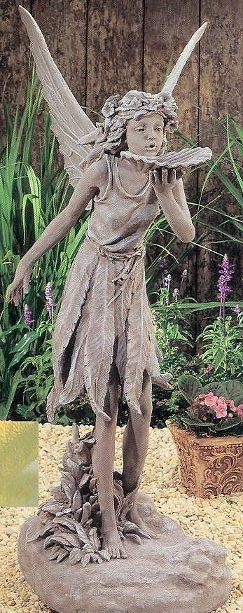 "fairy garden statues resin | My Garden Gifts > Fairy Statues, Sculptures and Figurines > 35""H Fairy ..."