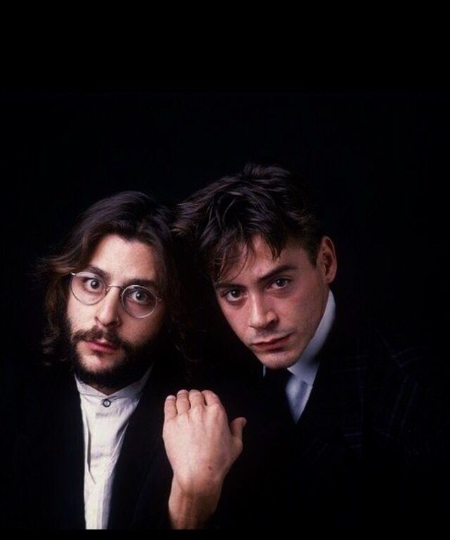 Judd Nelson and Robert Downey, Jr.