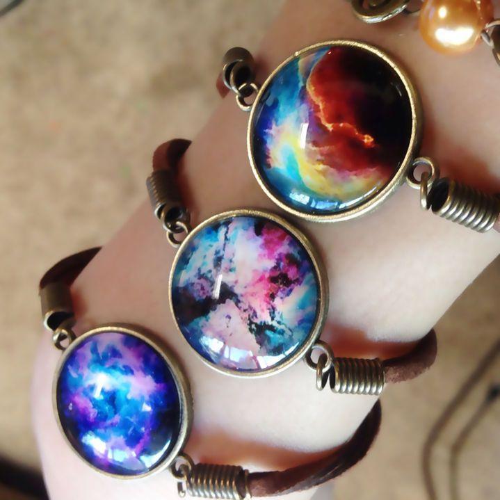 New Fashion Jewelry Galaxy Nebula Space Weave Strap Gemstone Bracelet Bangle WS in Jewellery & Watches, Costume Jewellery, Bracelets | eBay