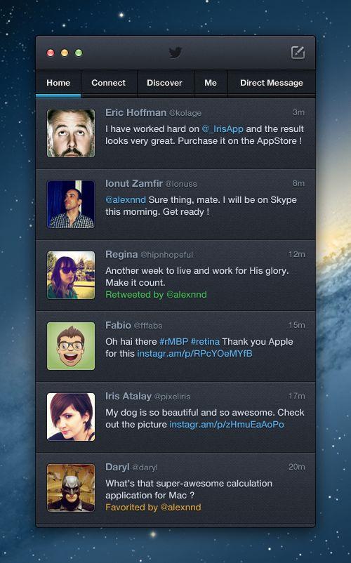 Twitter OSX App by Alexandre Naud