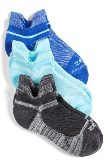 Zella Tab Back Running Socks (3-Pack) available at #Nordstrom