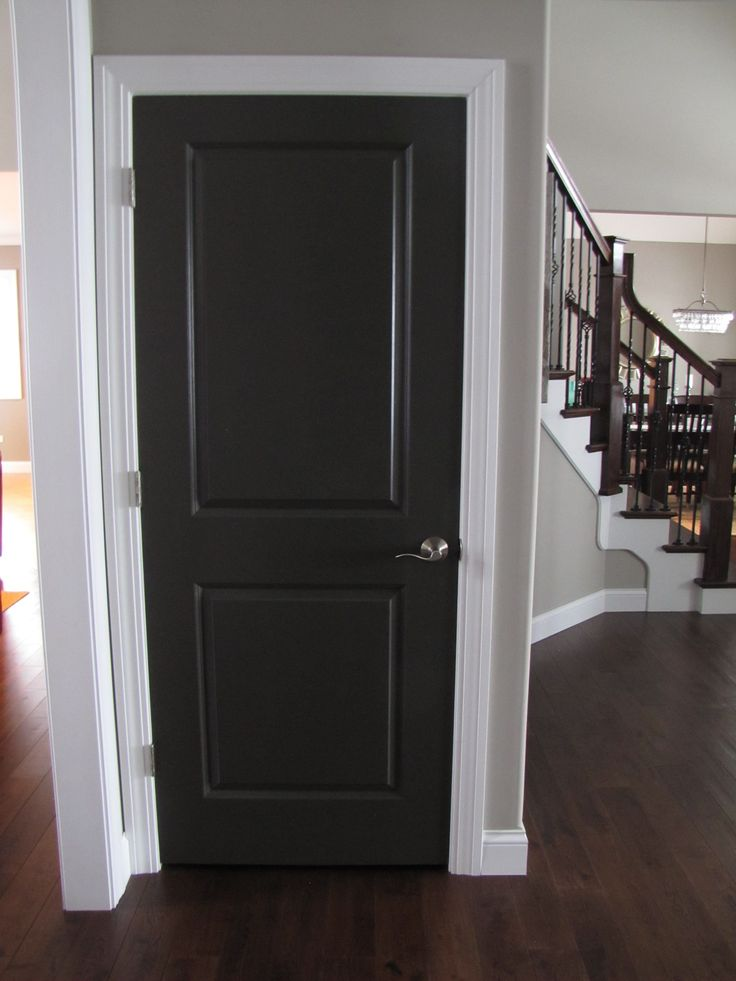 Best 25 wooden interior doors ideas on pinterest for Black interior paint