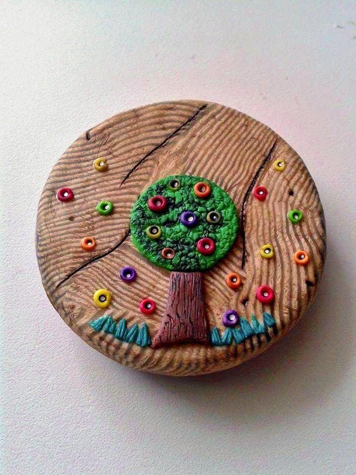 Katka Trtílková - krabička s imitací dřeva podle workshopu Andrey Zajacové z 2.ročníku Polymerové školy online