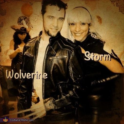 Wolverine and Storm Couple Costume Idea