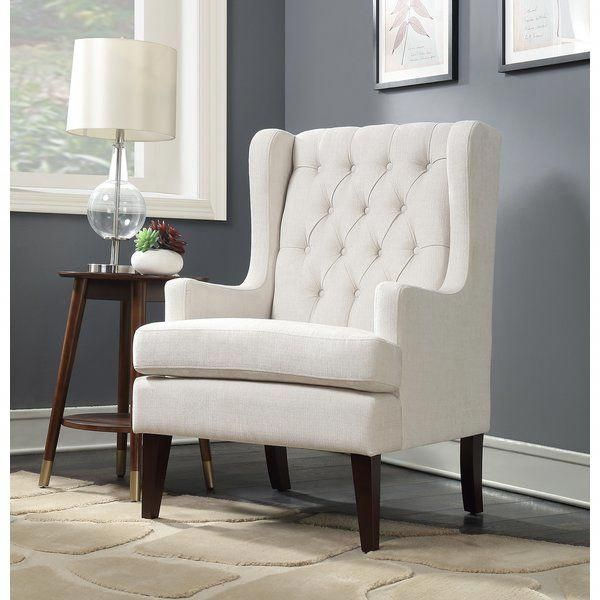 Every Living Room Should Include This Button Tufted Wingback Chair For The Highest Quality Hand Tufting And Hand Cr Accent Chairs Chair Living Room Accessories