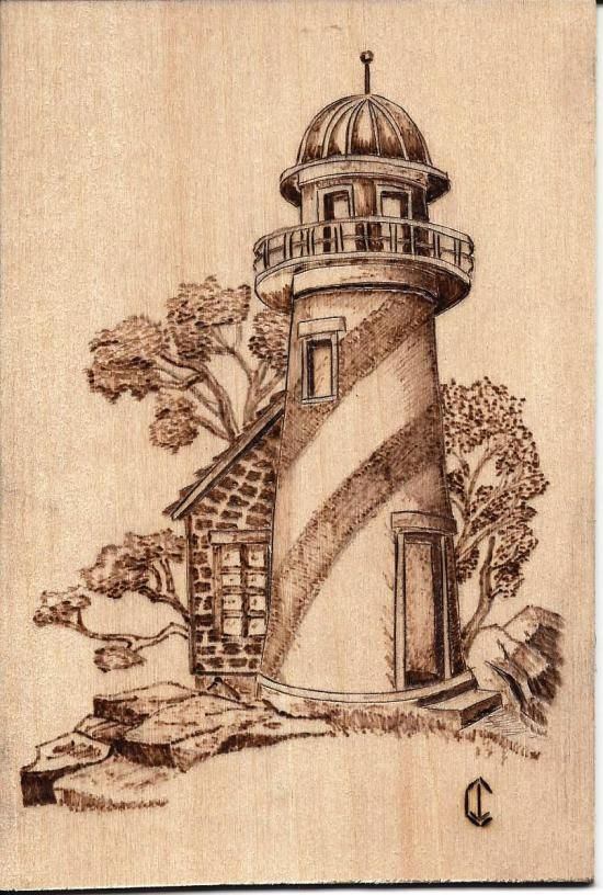 joacarro gallery pyrography | Gallery > Pyrography > pyrography-lighthouse-1 (Basswood)
